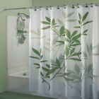 3D Leaves Printed Bathroom Shower Curtain Fabric Waterproof Home Decor 180*180cm