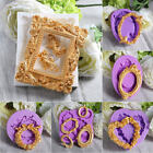 Mirror Frame Silicone Fondant Mold Cake Decor Chocolate Sugarcraft Baking Mould