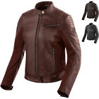 Rev It Clare Ladies Leather Motorcycle Jacket Women's Urban City Thermal Vented