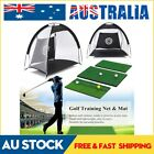 Golf Hitting Cage Practice Net Trainer With Training Mat +2 Balls +Tee Foldable