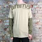Animal Basic Printed Long Sleeve Soft Touch T-Shirt - Light Taupe - in size S