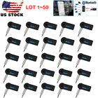 LOT 1~50 Bluetooth Receiver Wireless 3.5mm AUX Audio Stereo Adapter f Car Home