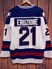 MIKE ERUZIONE 21 TEAM USA HOCKEY JERSEY 1980 GOLD MEDAL MIRACLE ON ICE S XXXL