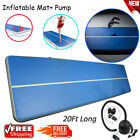20FT Inflatable Gym Mat home Tumbling Air Track Gymnastics Cheerleading Air Pump