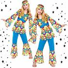 Girls Retro Hippie Groovy Hippy Chick Sixties 60s 70s Gogo Fancy Dress Costume