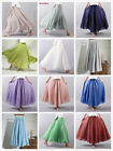 High Quality Summer New Cotton Linen Pleated Women Floor-Length Maxi Tulle Skirt