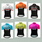 Men Cycling Jersey Polyester Quick Dry Breathable Pockets Bike Sports Clothing