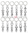 Pewter Welsh Lovespoon Keyrings / Wedding Favours - 12 Designs to Choose From