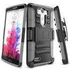 For LG G3 D850 D855 LS990 Hybrid Rugged Armor Impact Stand Case Cover US ship