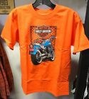 Harley Davidson Classic View Youth Orange T-Shirt $8.0 USD