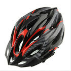 Cycling Bicycle Adult Men's Bike Helmet Red carbon color With Visor Mountain RL