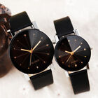 Men Women Leather Strap Line Analog Quartz Ladies Wrist Watches Fashion Watch image