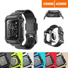 For Apple Watch Case Cover Series 1 2 3 Heavy Duty Tough Armor iWatch Band Strap image