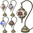 38CM MOSAIC TABLE LAMP GLOBE HANDMADE GLASS MOROCCAN TURKISH HOME DECOR BEDROOM