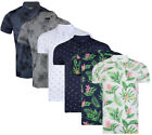 Mens Hawaiian Fashion Floral Polo Shirt Short Sleeve Casual Cotton Summer S-XXL