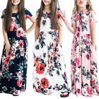 US Kids Girls Long Sleeve Floral Maxi Dress Inafant Outfit Holiday Party Dresses