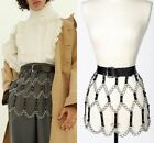 Sexy Women Skirt Leather Belts Gothic Harness Waist Body Hollow Strap Dresses