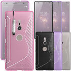 For Sony Xperia XZ2 / XZ2 Compact - Soft Silicone Gel Rubber Case Cover +Stylus