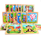16PCS/1 Set Cute Animals Smart Baby Kids Puzzle Learning Educational Wooden Toy