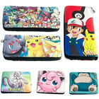 Pokemon Different Style Long Wallet Short  Tri Fold Purse Coin Bag