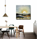 Sunrise Stretched Canvas Print Framed Wall Art Hanging Home Office Decor Gift