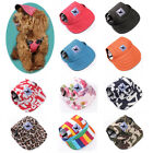 Clothing Shoes - Dog Baseball Hat Summer Canvas Cap Pet Dogs Visor Outdoor Sunbonnet Neck Strap