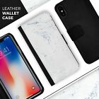 Mixtured Blue and Gray 19 Textured Marble iPhone Leather Credit Card Wallet Case