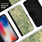 Military Jungle Camouflage V3 iPhone Leather Credit Card Wallet Case