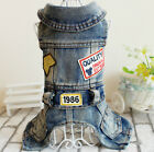 Cute XLarge XL Blue Denim Dog Jean Vests French Bulldogs Beagles