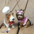 Gisela Graham Glitter Dog Pet Puppy Hanging Christmas Tree Decoration Ornament