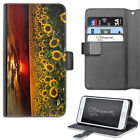SUNFLOWER FIELD PHONE CASE, LEATHER WALLET FLIP CASE, COVER FOR SAMSUNG, APPLE