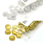 10 Big 12mm Fancy Filigree Domed Spacer Bead End Accent Caps Plated Brass Metal