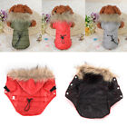 5 size pet dog coat winter warm small dog clothes soft fur hood jacket cloth C0