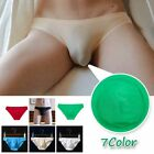 Mens Underwear Triangle Bulge Pouch Brief Short Soft Elastic Solid Color Plain