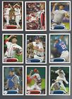 2012 TOPPS SERIES 1 & 2  #'s 250-499 ( STARS, ROOKIE RC'S ) WHO DO YOU NEED!!!