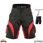 Mens Cycling Shorts MTB Bicycle Mountain Biking Off Road HQ Padded Liner Short