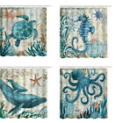 Sea Turtle Waterproof Shower Curtains Bathroom Curtain Ocean Theme Bath Curtains