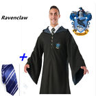 Cape Gryffindor/Slytherin/Hufflepuff/Ravenclaw Robe Cloak with Tie
