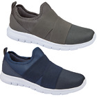 NEW MEN'S SLIP ON LIGHTWEIGHT TRAINER MESH CROSS OVER ELASTICATED SPORT CASUAL