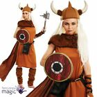 *Ladies Medieval Viking Warrior Princess Fancy Dress Costume Outfit with Shield*
