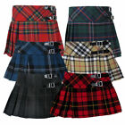 Girls Tartan Skirts | Hipster Red Purple Blue Black Green Grey & Leather Straps