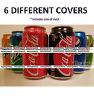 6 PACK  VARIETY CAN COVERS HIDE A BEER  SODA CAMO WRAP SLEEVES GOLF TAILGATE