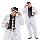 Adults Pinstripe Daddy 1920s Gangster Suit Fancy Dress Costume Mens Party Outfit