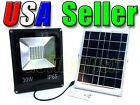 30W Solar Power LED Flood Light Spotlight + Remote Control Waterproof Outdoor