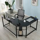 L-Shaped Desk Corner Computer Gaming Laptop Table Workstation Home Office Desk
