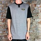 Brixton Normandie Short Sleeve Henley T-Shirt Tee  – Grey in Size M