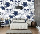 3D Fashion Skull Floral 452 Wall Paper Wall Print Decal Wall Deco Indoor Murals