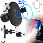Fast Charger Qi Wireless Car Phone mount Holder Charging for iPhone X Samsung S9