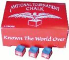 Pool Cue Chalk Set For Billiards National Tournament Chalk LOT $7.46 USD on eBay