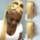 black hair with ombre red - Hot Human Hair Wig Bleach Blonde Glueless Lace Front Wigs With Baby Hair Front G
